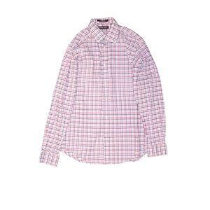 Michael Kors boys plaid shirt pink blue white 18